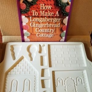 Longaberger county cottage gingerbread cookie mold